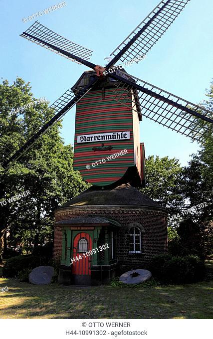 Fool's mill in Viersen-Dülken, Lower Rhine, North Rhine-Westphalia