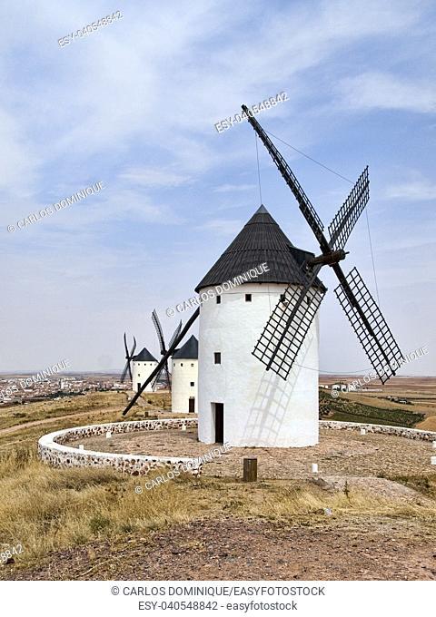 Windmills in Alcazar de San Juan La Mancha Don Quixote's land