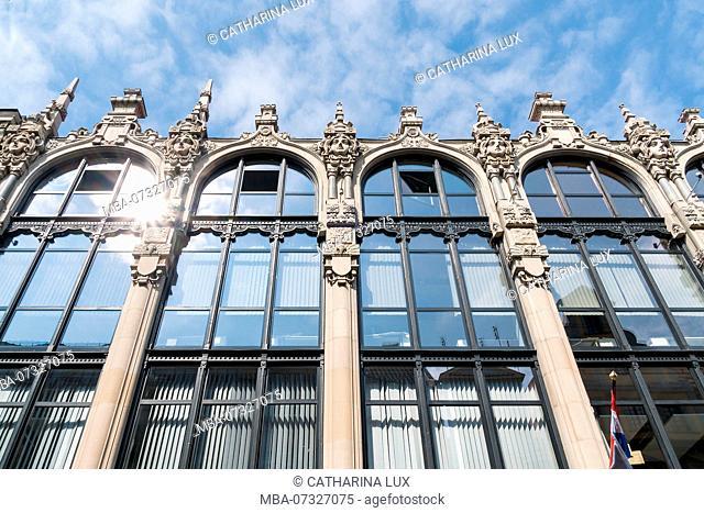 Poland, Wroclaw, old town, Art Nouveau building, Ul. Rze?nicza