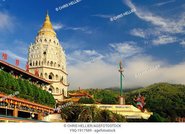 Pagoda of Kek Lok Si Chinese Temple Penang Malaysia
