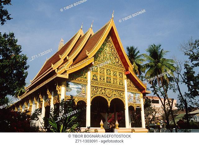 Laos, Vientiane, Wat In Paeng buddhist temple