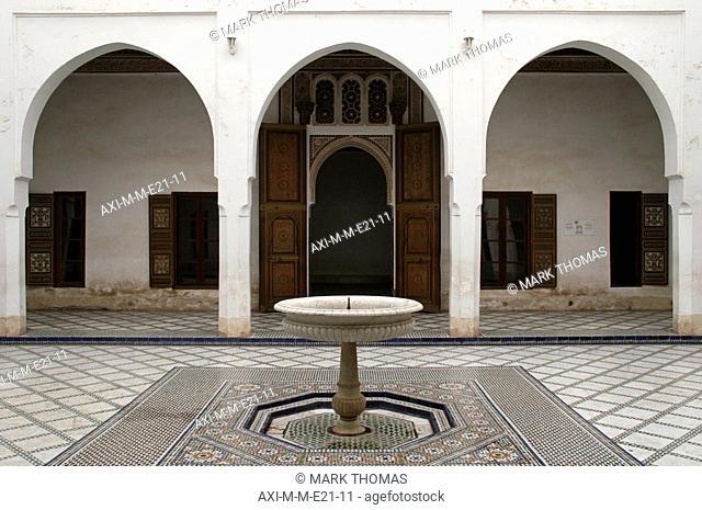 Fountain at courtyard of Bahia Palace