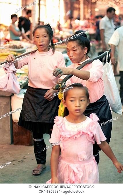 Local Ethnic, Market Rongjiang, Rongjiang, Guizhou, China