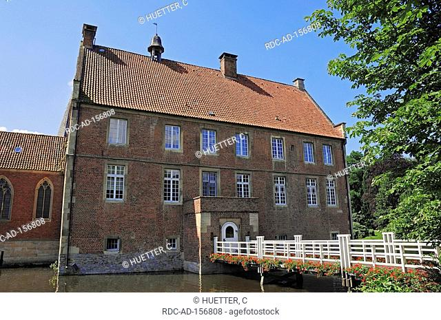 Castle Hulshoff house of birth of Annette von Droste-Hulshoff Havixbeck North Rhine-Westphalia Germany Burg Hülshoff Annette von Droste-Hülshoff