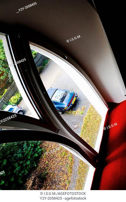 Porsche through the window