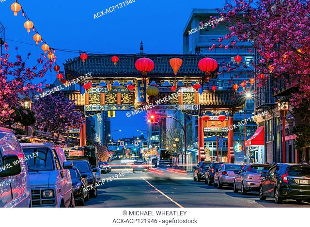 Gate of Harmonious Interest, Fisgard Street, Chinatown, Victoria, British Columbia, Canada