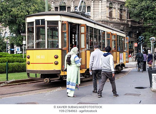 Tram, Milan, Lombardy, Italy