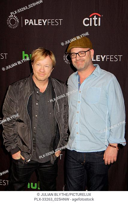 """John Fawcett, Graeme Manson 03/23/2017 PaleyFest 2017 """"""""Orphan Black"""""""" held at The Dolby Theatre in Hollywood, CA Photo by Julian Blythe / HNW / PictureLux"""