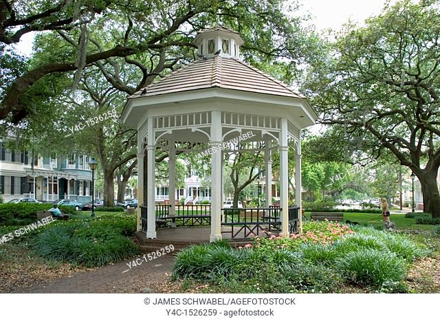 Gazebo in Whitefield Square, Historic District, Savannah, Georgia