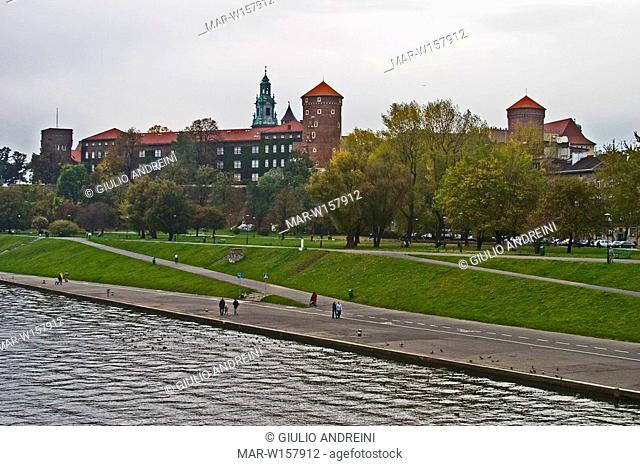 europe, poland, krakow, wawel hill, the castle