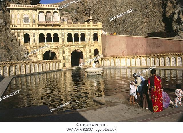 Galtaji , jaipur , rajasthan , india