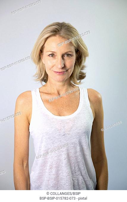 Portrait of a 47-year old woman