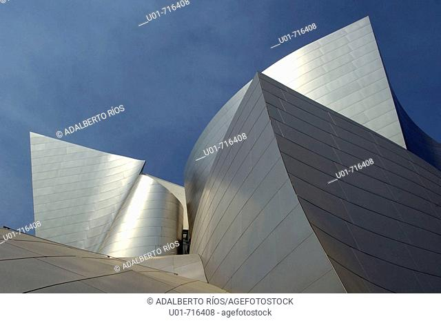 Walt Disney Concert Hall (architect: Frank Gehry). Downtown. Los Angeles. California. USA