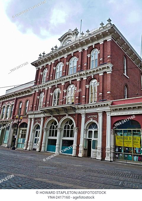 Constructed in 1872 the New Market Block was home to the Portland Symphony in 1882 but the theater, which was on the second and third floors