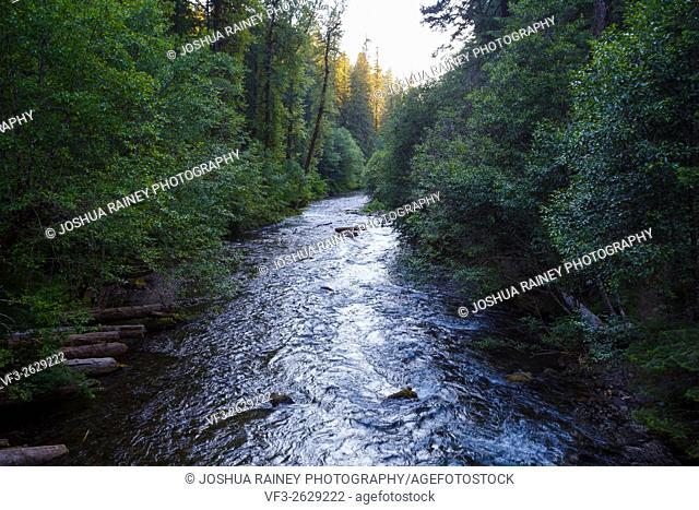 North Umpqua River in Oregon near Toketee Falls