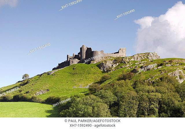 Carreg Cennen Castle, Carmarthenshire, Wales, UK