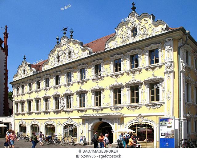 The Falkenhaus, Wuerzburg, Lower Franconia, Bavaria, Germany