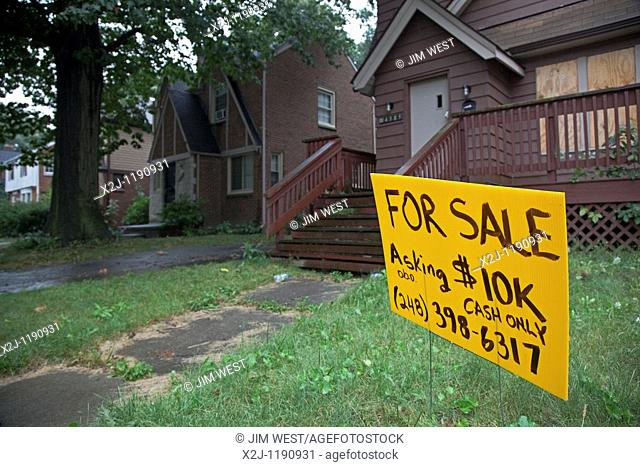 Detroit, Michigan - The owner of a home on Courville Street in Detroit is selling the house for $10,000 'or best offer ' Many homes are available in Detroit in...