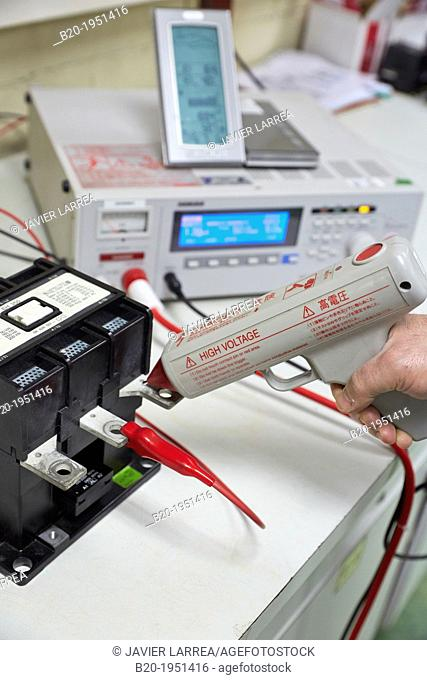 Dielectric strength test. Low Voltage Electric Laboratory. Certification of electrical equipment. Technological Services to Industry