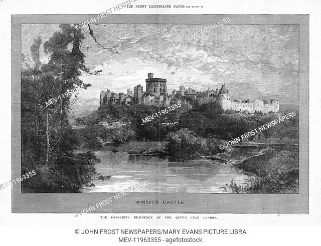 1901 Penny Illustrated Paper Windsor Castle, Queen Victoria's Favourite Residence