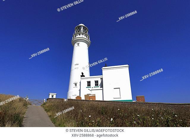 Flamborough Head lighthouse, Flamborough, East Yorkshire, England, UK