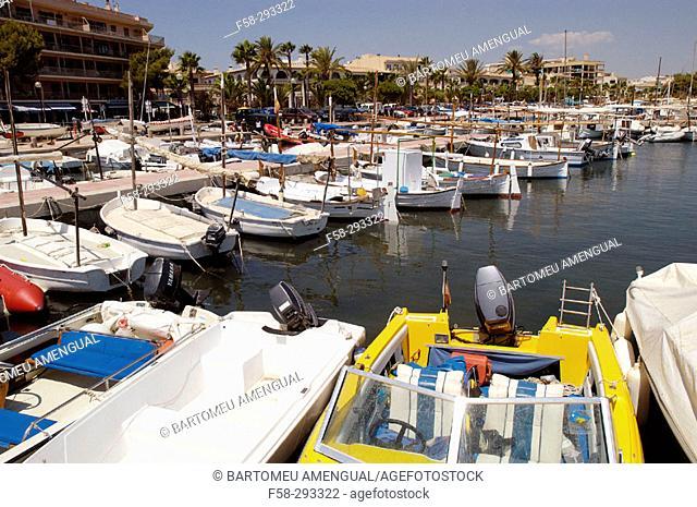 Harbour to Cabrera Island. Colonia de Sant Jordi. Ses Salines. Balearic Islands. Spain