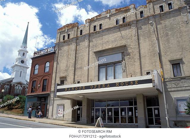 theatre, Bangor, Maine, ME, Bangor Opera House downtown Bangor