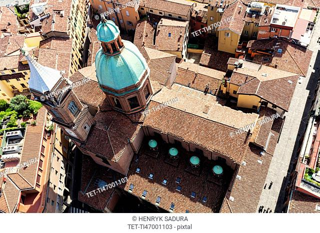 Aerial view of Santi Bartolomeo e Gaetano church