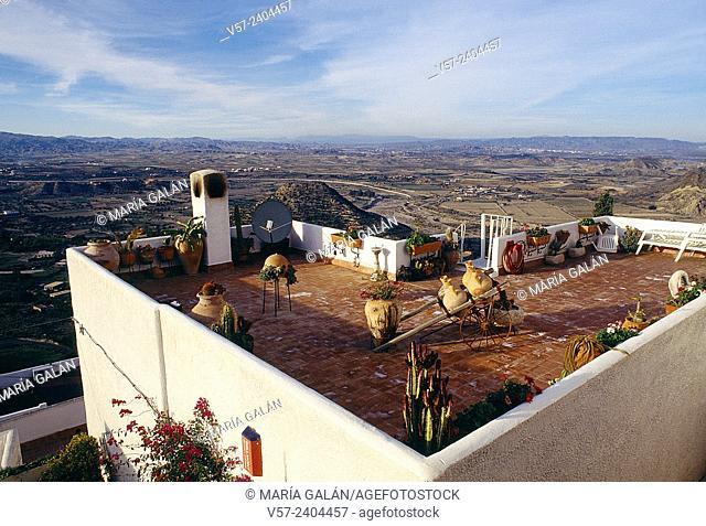 Terraced roof. Mojacar, Almeria province, Andalucia, Spain