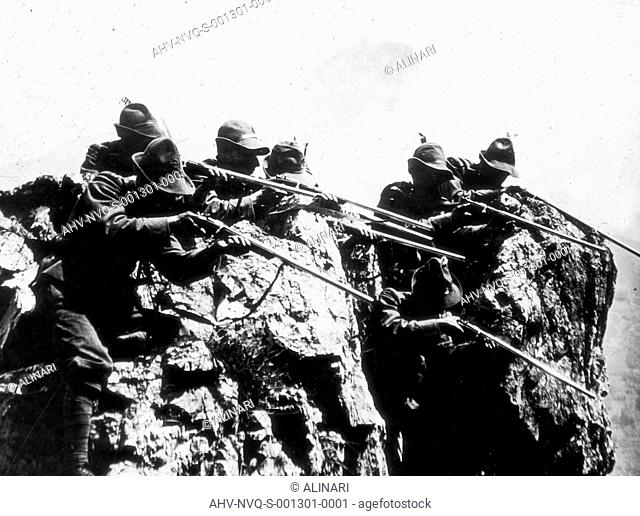 World War I: alpini in a war zone, shot 1915-1918