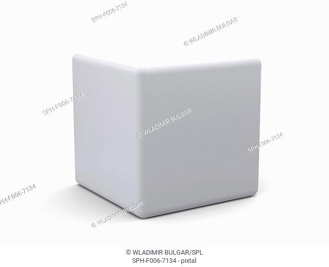 White cube, computer artwork
