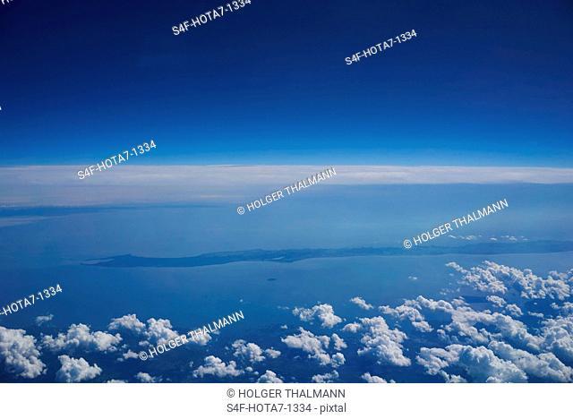 Luftaufnahme der Insel Byxelkrok, Schweden