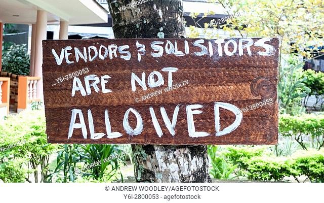 Spelling mistake on hand-written sign Boracay Philippines