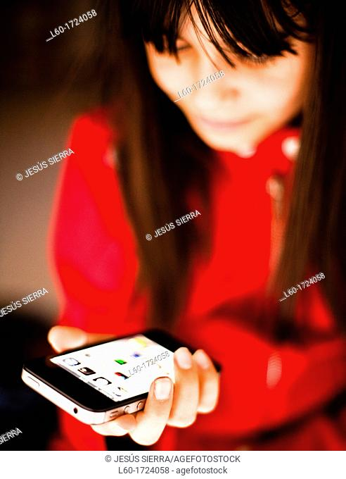 Girl and Iphone 4s