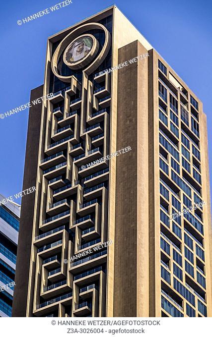 Modern architecture of the Maze at the WTC in Dubai, UAE