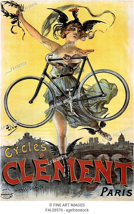 Cycles Clément by Paléologue (Paleologu), Jean de (1855-1942)/Colour lithograph/Art Nouveau/1898/Romania/Private Collection/Poster and Graphic...