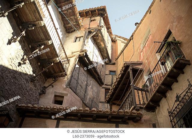 Old houses Albarracín, Teruel province, Aragón, Spain