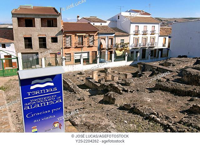 Archaeological site of the Roman Baths, Alameda, Malaga-province, Region of Andalusia, Spain, Europe