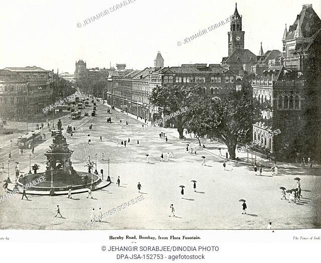 Catholic community Hornby Road Bombay from Flora Fountain ; Bombay Mumbai ; Maharashtra ; India