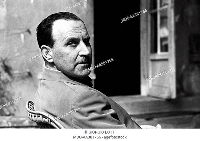 Portrait of Alessandro Bonsanti. Portrait of Italian writer Alessandro Bonsanti. Fiesole, 1966