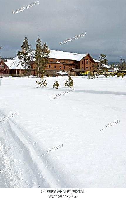 Old Faithful Snow Lodge in Winter, Yellowstone NP, WY