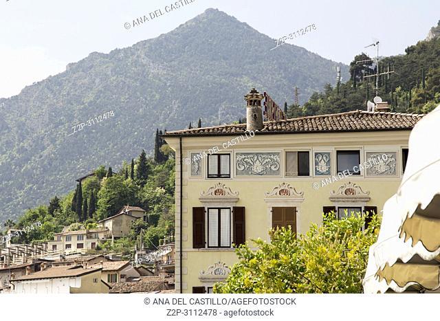 Limone sul Garda town in Lake of Garda Lombardy Italy on April 29, 2018