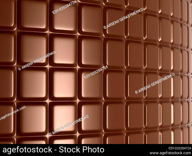 Sweet food: large chocolate bar