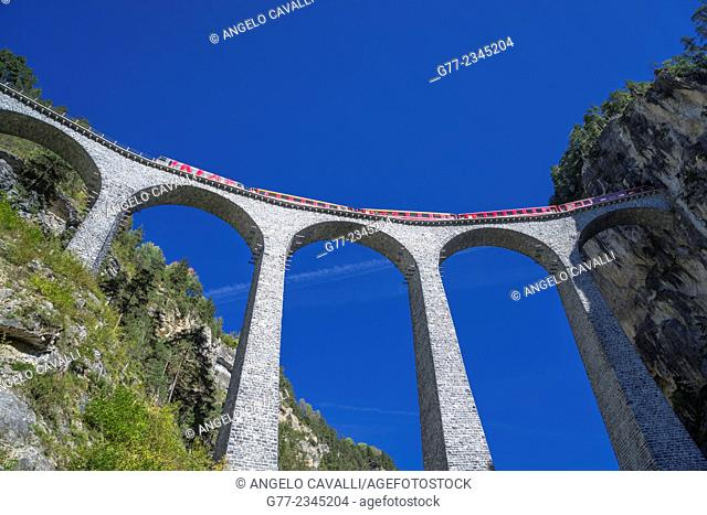 Landwasser Viaduct, Filisur, Canton of Graubünden, Switzerland