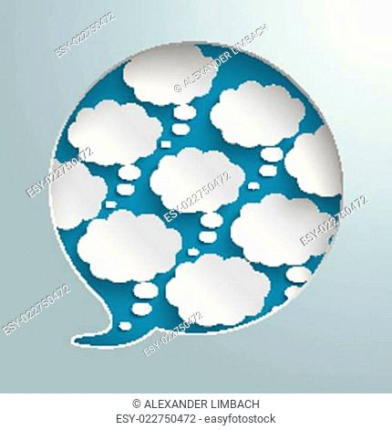 Speech Bubble Hole 8 Thought Bubbles Silver Infographic PiAd