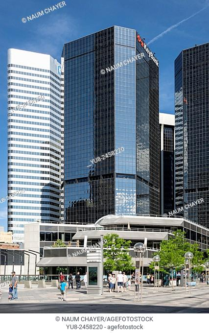 High-rise buildings in downtown, Denver, Colorado, USA, North America, United States
