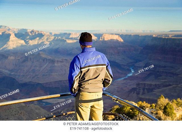 Desert Point, South Rim, Grand Canyon, Arizona, USA. View of Canyon early morning