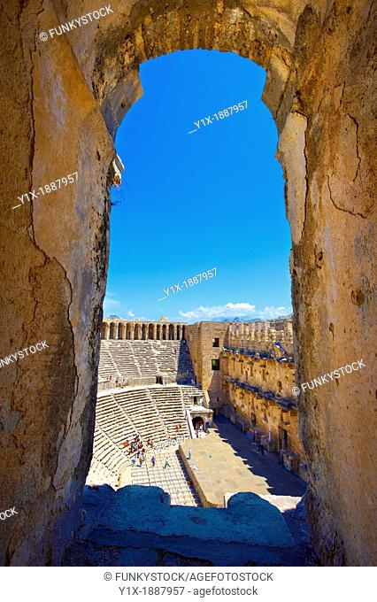 The Roman Theatre of Aspendos, Turkey  Built in 155 AD during the rule of Marcus Aurelius, Aspendos Theatre is the best preserved ancient theatre in Asia Minor...