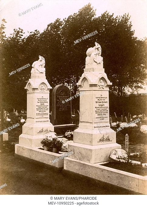 The graves of three victims of a North Sea outrage, Hull, Yorkshire. The Dogger Bank Incident (or 'Russian Outrage') occurred on 22 October 1904