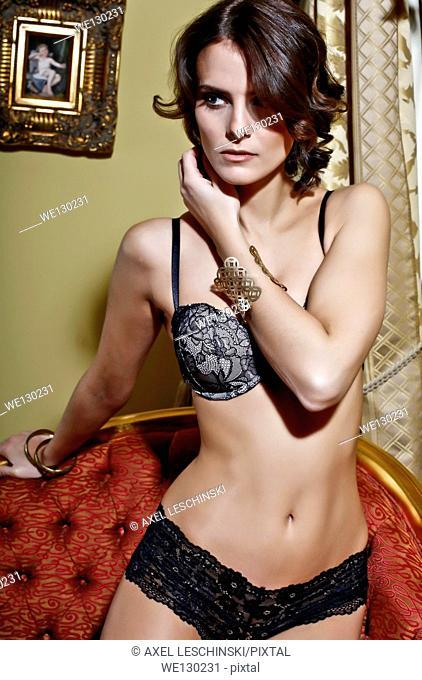 Sexy woman in underwear